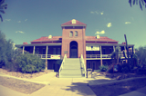 A photo of Old Main at the University of Arizona